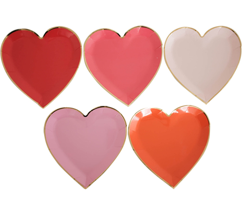 LOVELY HEART plate [10pcs]