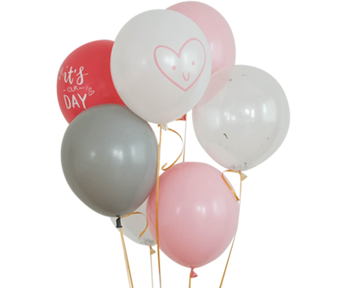 PINK GRAY balloon set [7pcs]